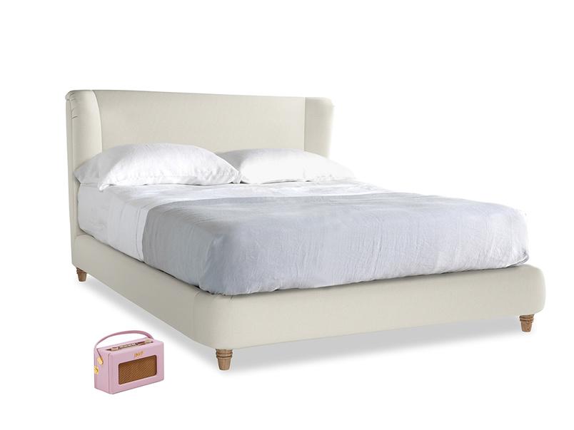 Kingsize Hugger Bed in Oat brushed cotton