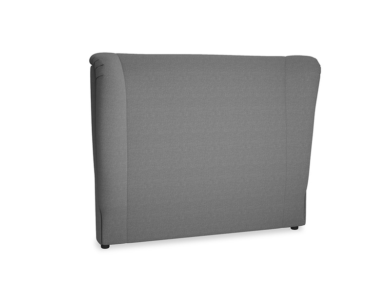Double Hugger Headboard in Ash washed cotton linen