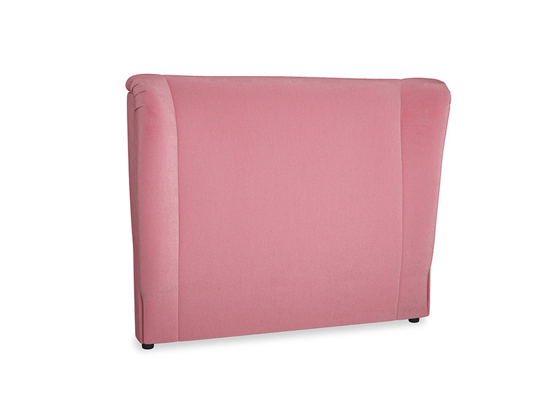 Double Hugger Headboard in Blushed pink vintage velvet