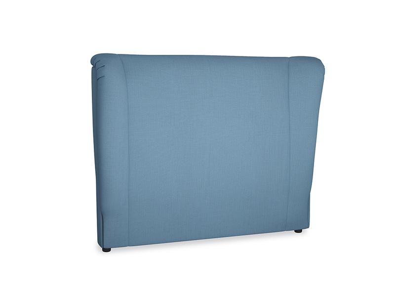 Double Hugger Headboard in Easy blue clever linen