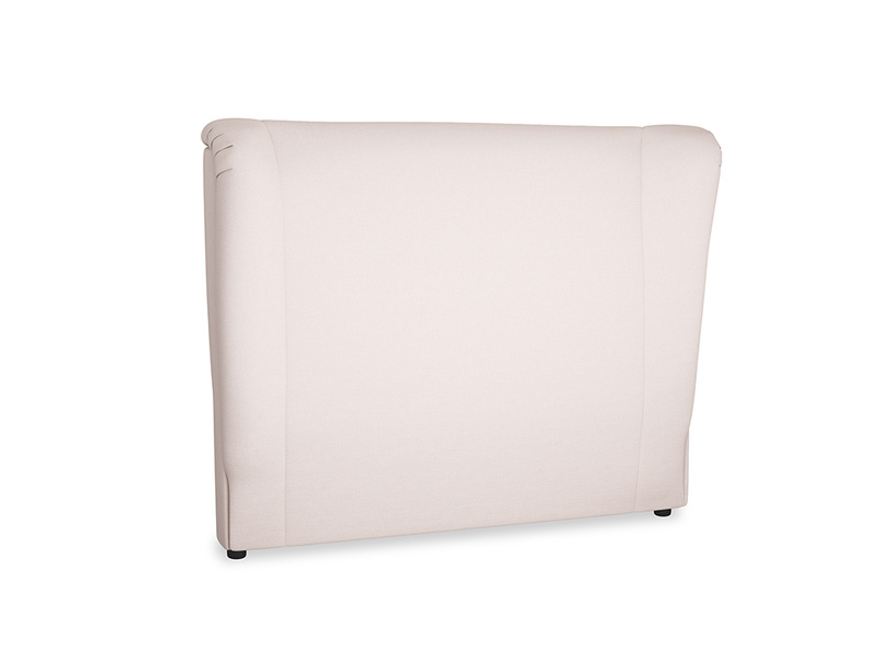 Double Hugger Headboard in Faded Pink brushed cotton