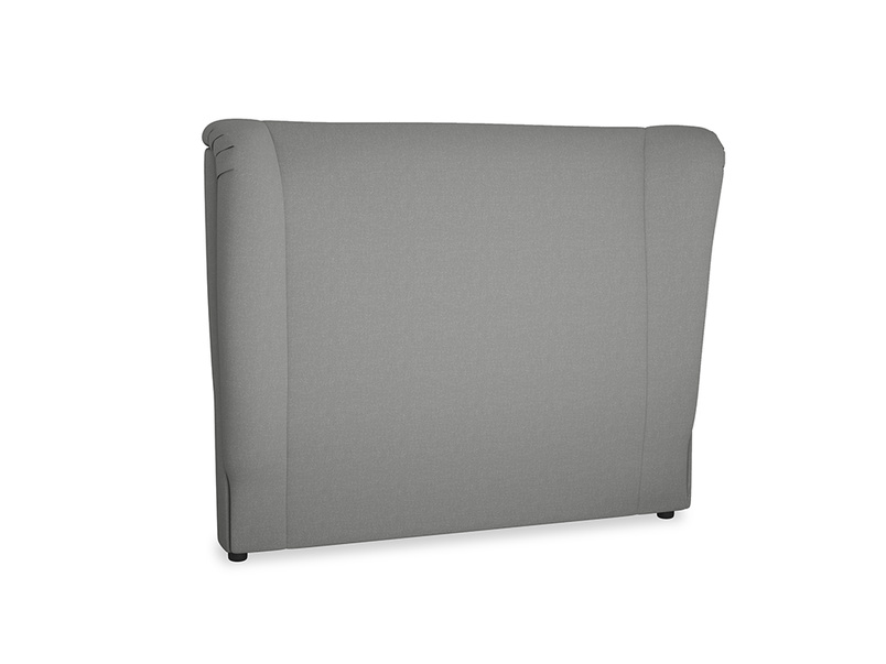 Double Hugger Headboard in French Grey brushed cotton