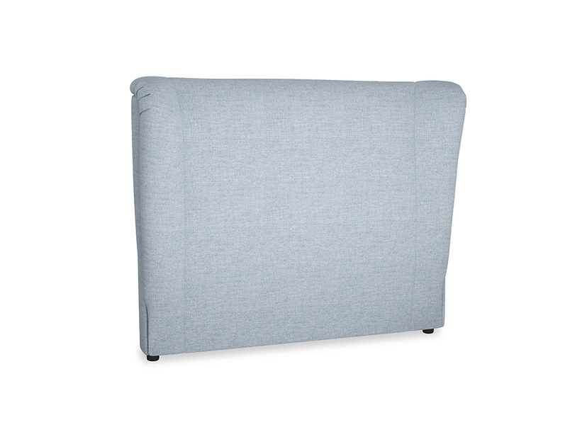 Double Hugger Headboard in Frost clever woolly fabric