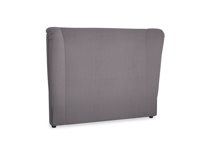 Double Hugger Headboard in Graphite grey clever cotton