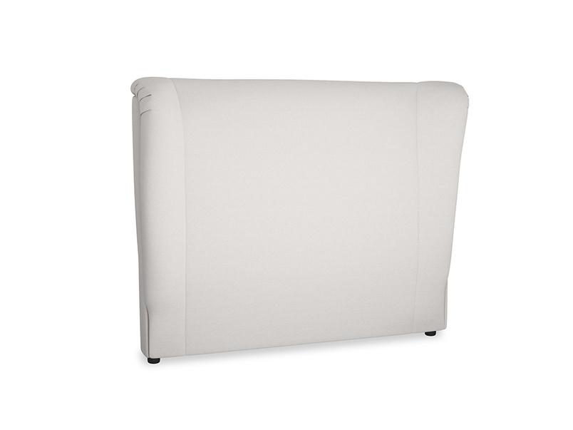 Double Hugger Headboard in Lunar Grey washed cotton linen