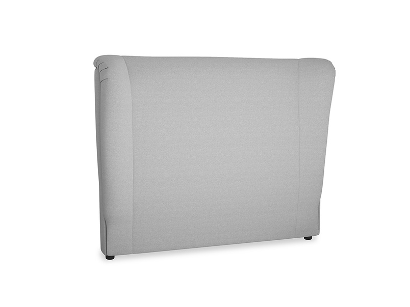 Double Hugger Headboard in Magnesium washed cotton linen