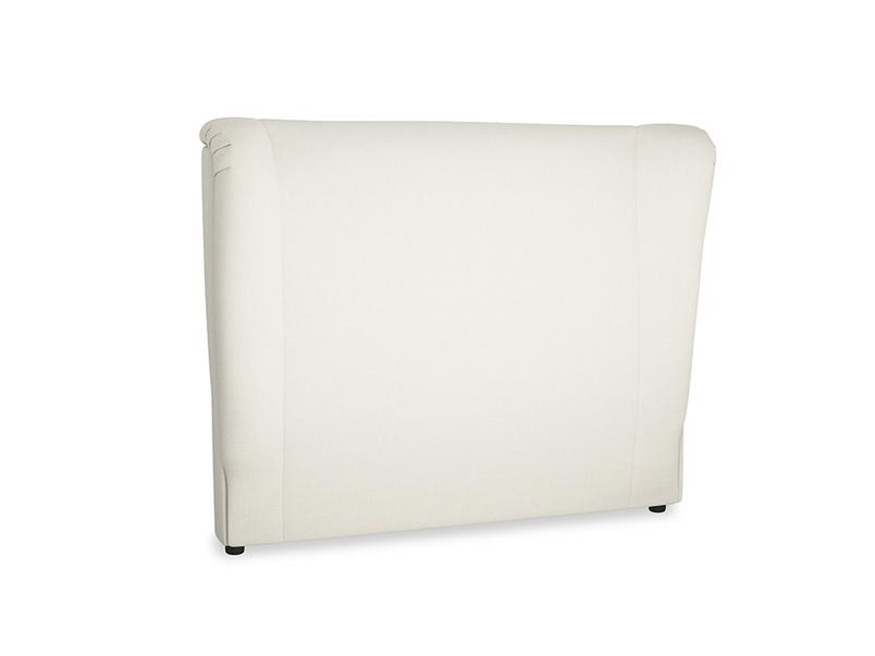 Double Hugger Headboard in Oat brushed cotton