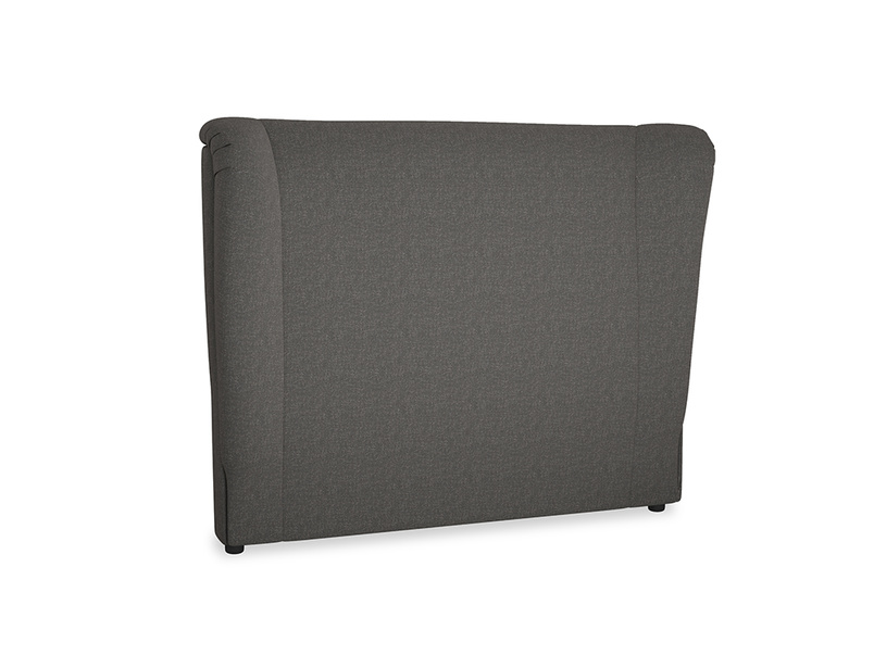 Double Hugger Headboard in Old Charcoal brushed cotton