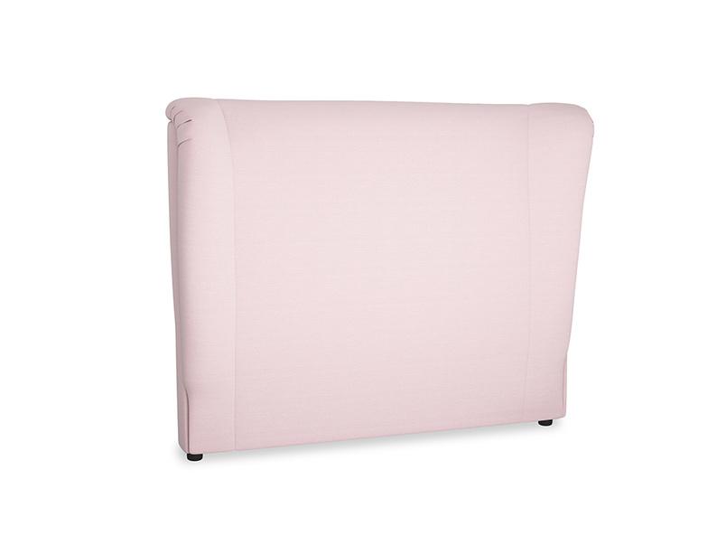 Double Hugger Headboard in Pale Rose vintage linen