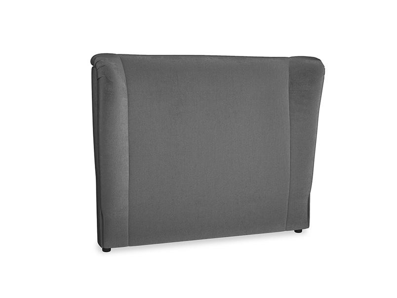 Double Hugger Headboard in Scuttle grey vintage velvet