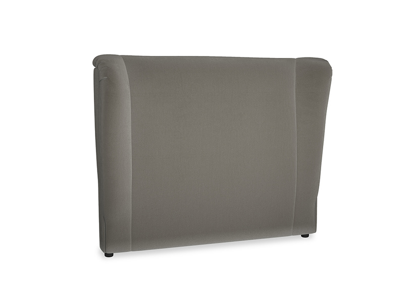 Double Hugger Headboard in Slate clever velvet