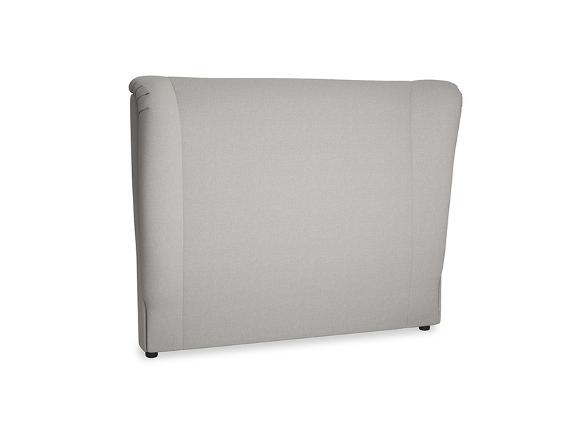 Double Hugger Headboard in Wolf brushed cotton