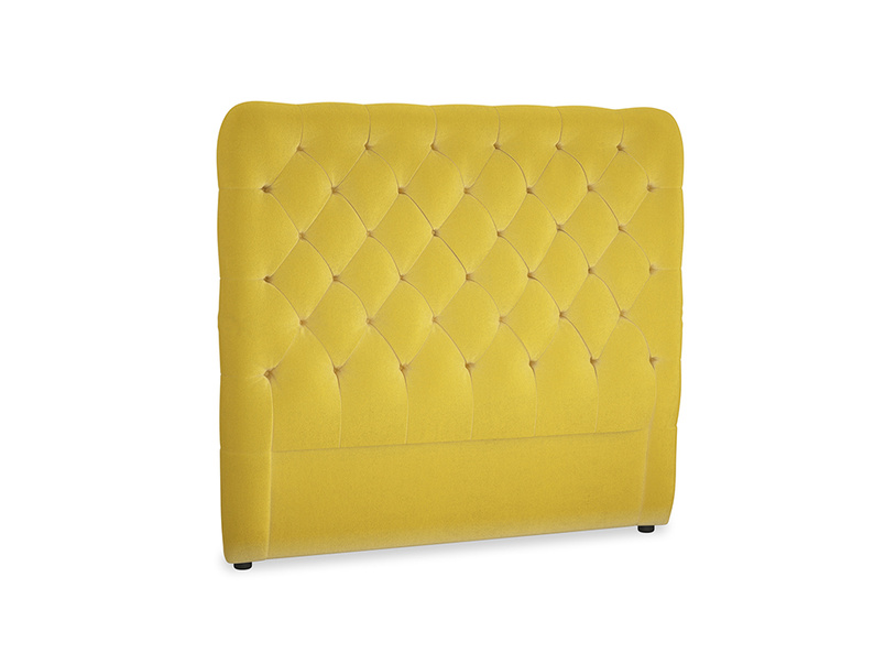 Double Tall Billow Headboard in Bumblebee clever velvet