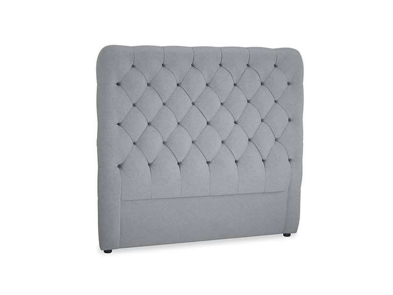 Double Tall Billow Headboard in Dove grey wool