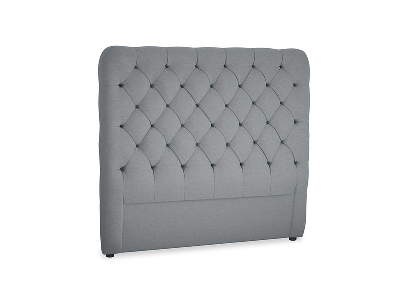 Double Tall Billow Headboard in Dusk vintage linen