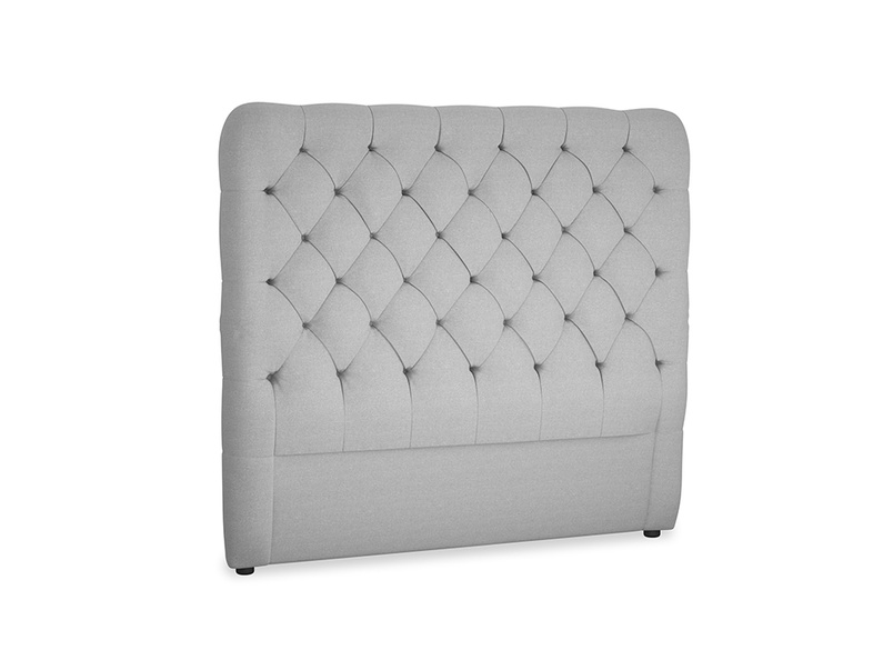 Double Tall Billow Headboard in Magnesium washed cotton linen