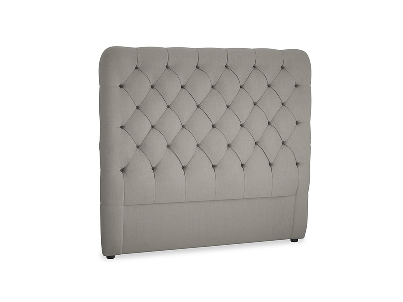 Double Tall Billow Headboard in Monsoon grey clever cotton
