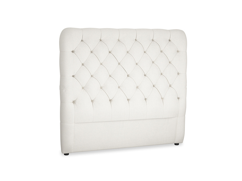 Double Tall Billow Headboard in Oyster white clever linen