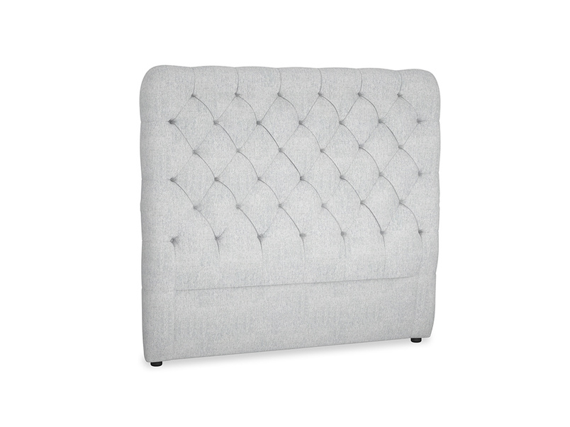 Double Tall Billow Headboard in Pebble vintage linen
