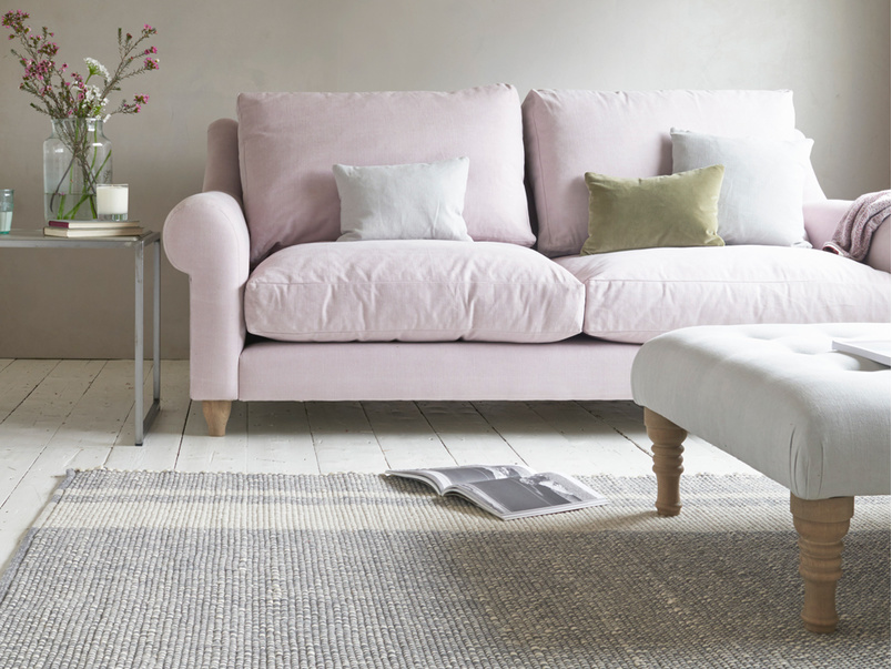 Babouche rug in Natural with Freddie sofa