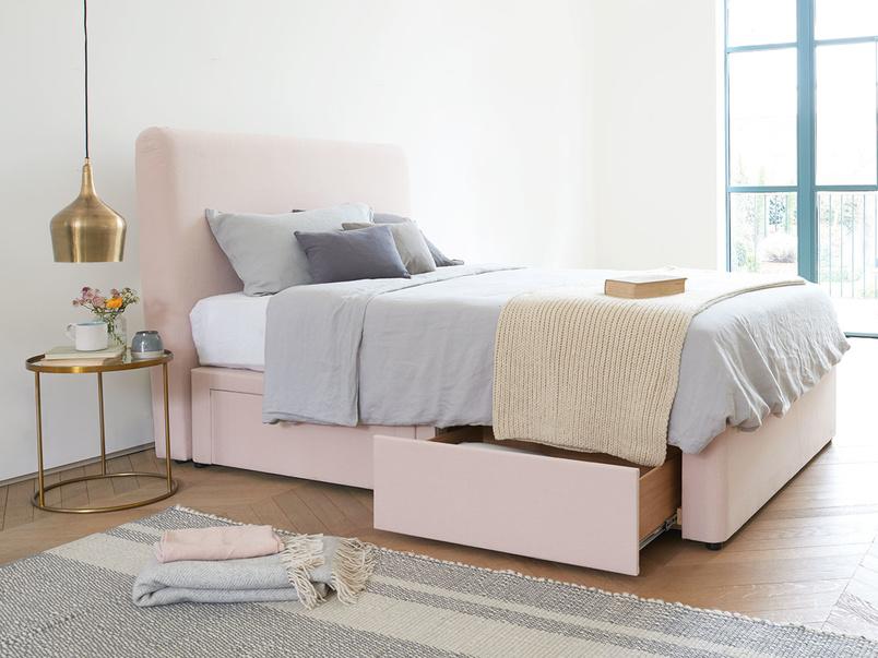 Ruffle upholstered handmade headboard
