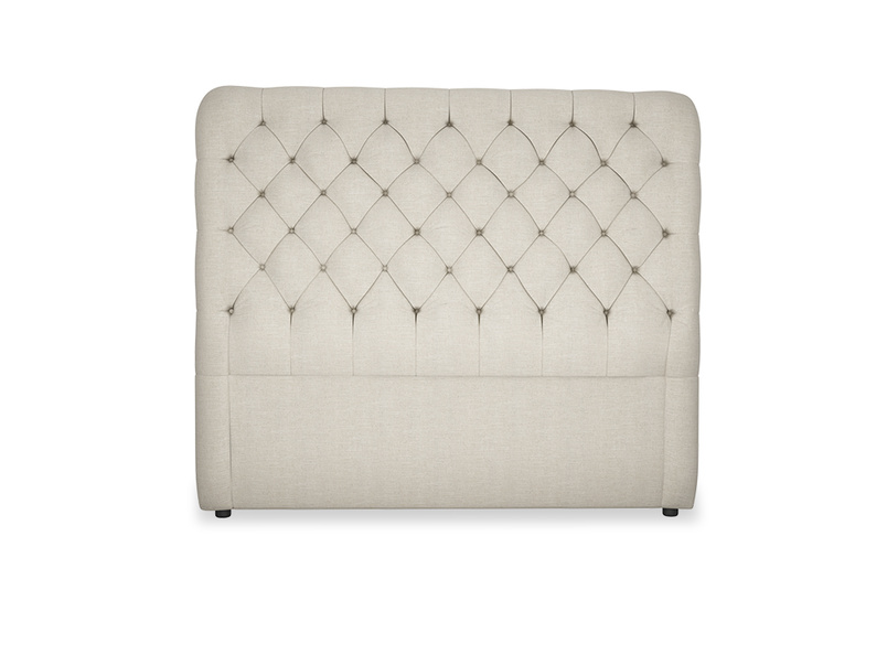 Tall Billow deep button upholstered headboard