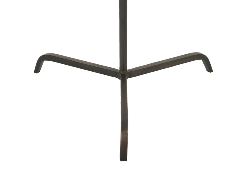 Slam Dunk curved bronze floor lamp