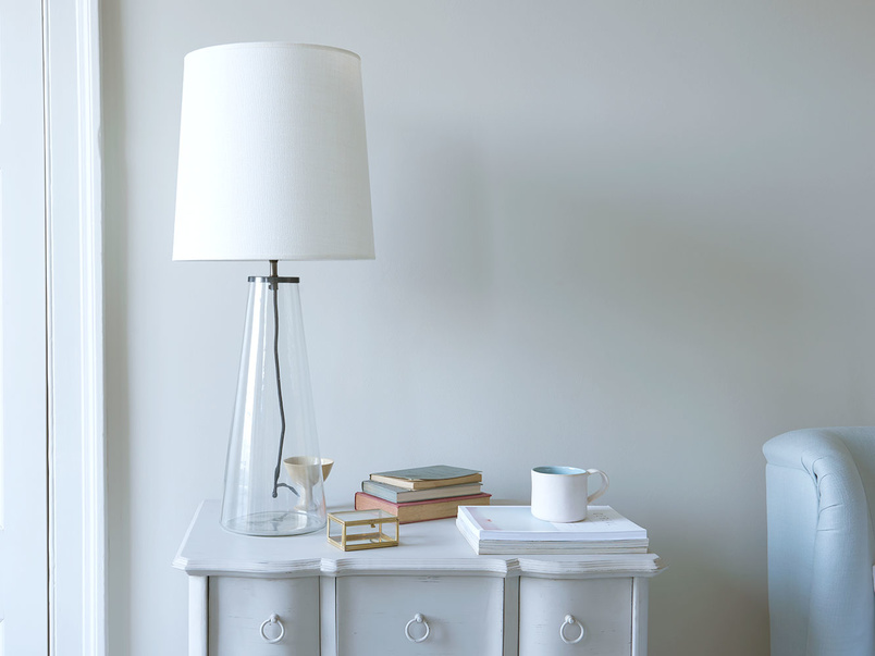 Shardy large glass base table lamp
