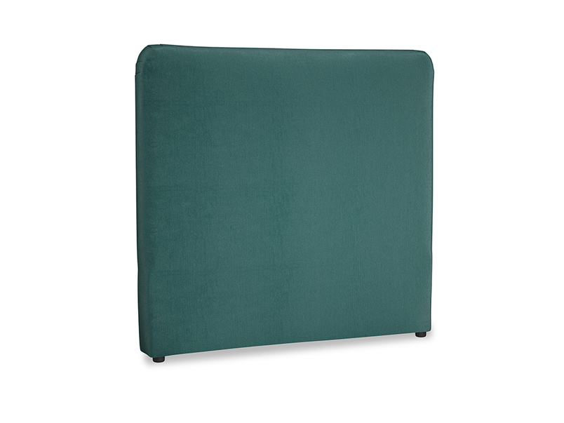 Double Ruffle Headboard in Timeless teal vintage velvet