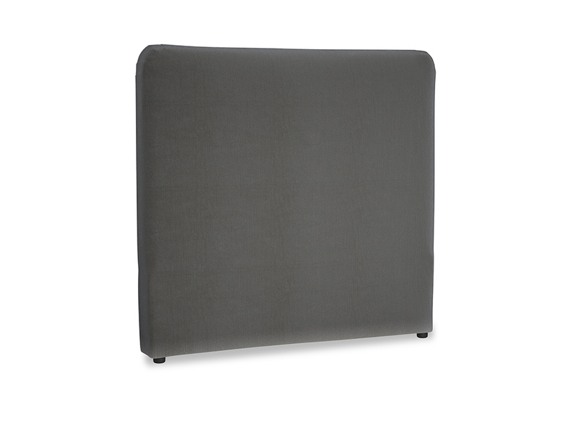 Double Ruffle Headboard in Steel clever velvet