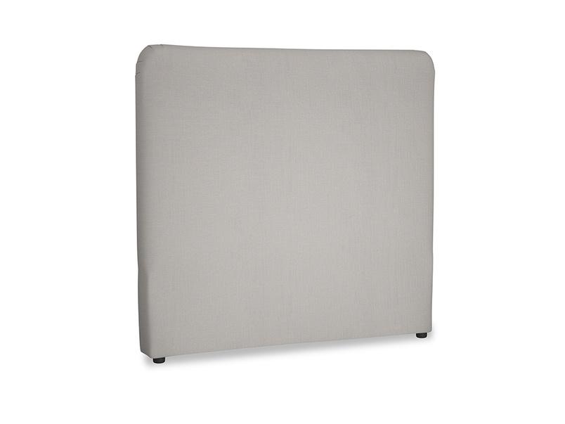 Double Ruffle Headboard in Safe grey clever linen