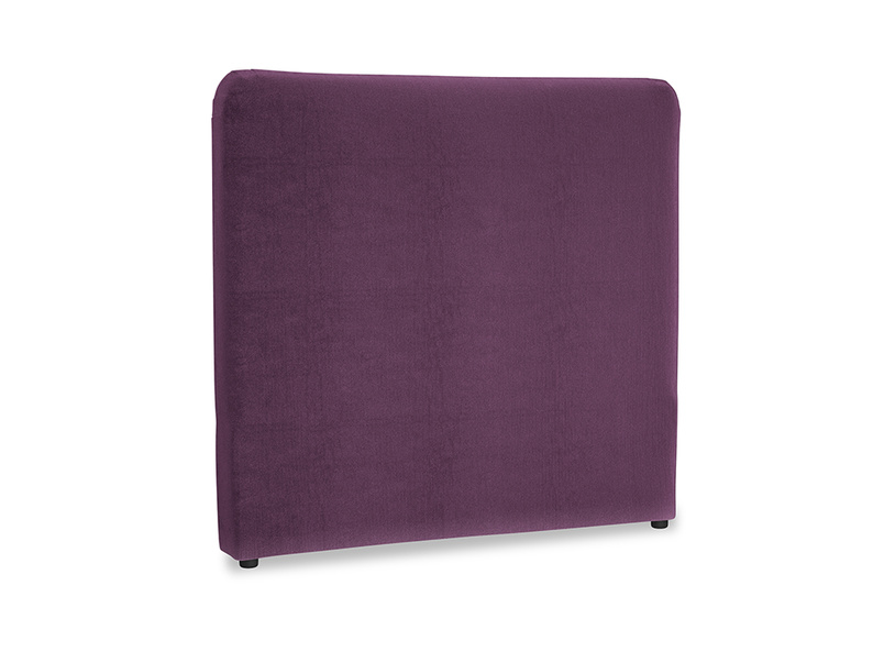 Double Ruffle Headboard in Grape clever velvet