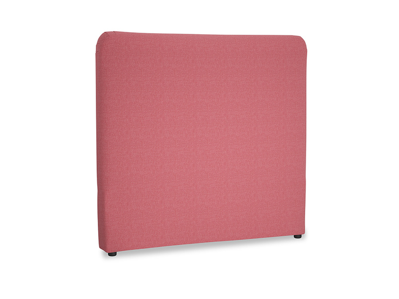 Double Ruffle Headboard in Raspberry brushed cotton