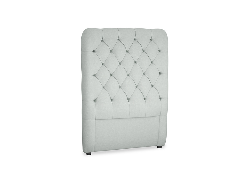 Single Tall Billow Headboard in French blue brushed cotton