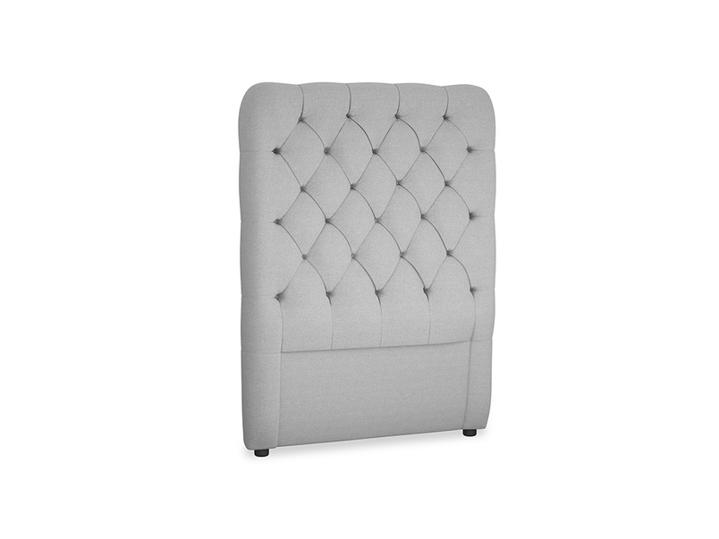 Single Tall Billow Headboard in Magnesium washed cotton linen