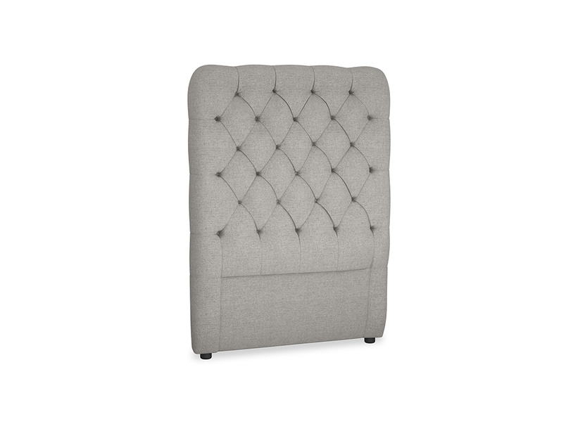 Single Tall Billow Headboard in Marl grey clever woolly fabric