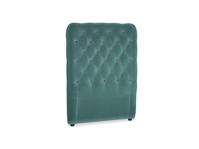 Single Tall Billow Headboard in Real Teal clever velvet