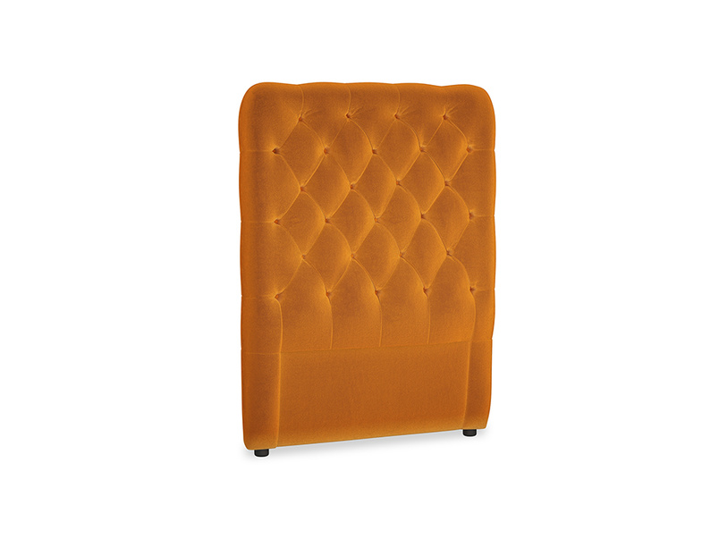 Single Tall Billow Headboard in Spiced Orange clever velvet