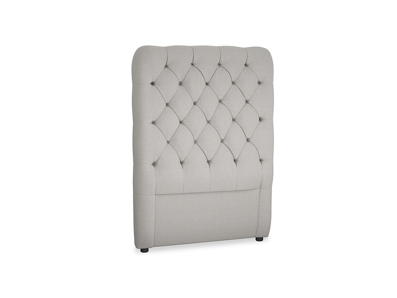 Single Tall Billow Headboard in Wolf brushed cotton