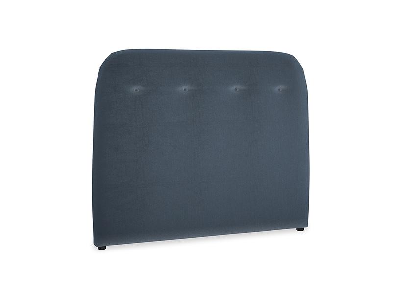Double Napper Headboard in Liquorice Blue clever velvet