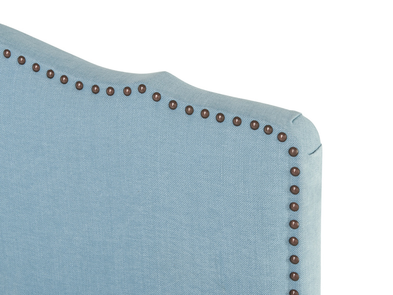 Lovely upholstery studs on Marie french style headboard