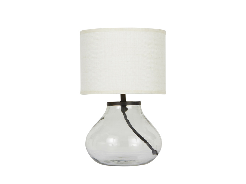 Mini Bessy Table Lamp with Natural Hessian shade
