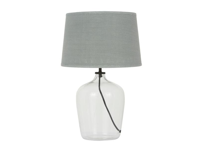 Medium Flagon table lamp with Seasalt shade