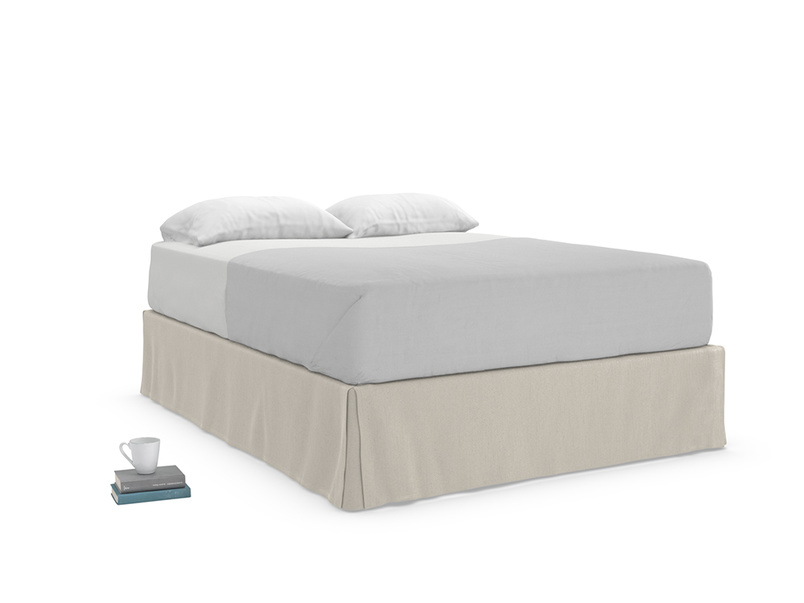 Space storage divan bed comes with a lovely fixed fabric to cover the four storage drawers