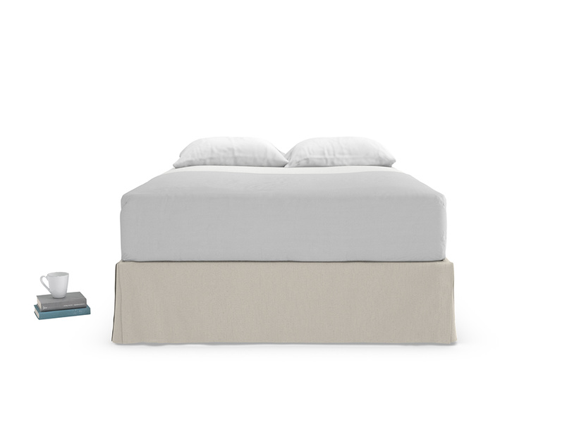Contemporary style Space storage divan bed base with four drawers and a valance