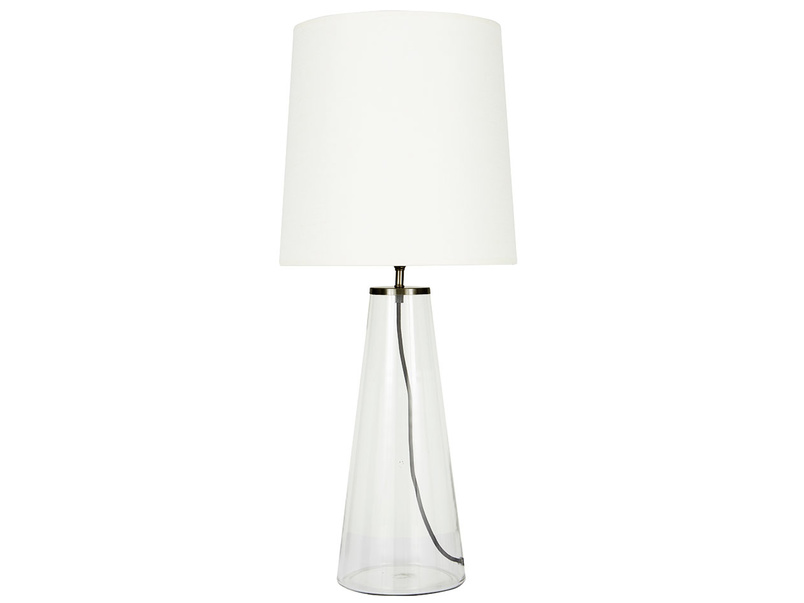 Shardy Table Lamp with Natural Hessian shade