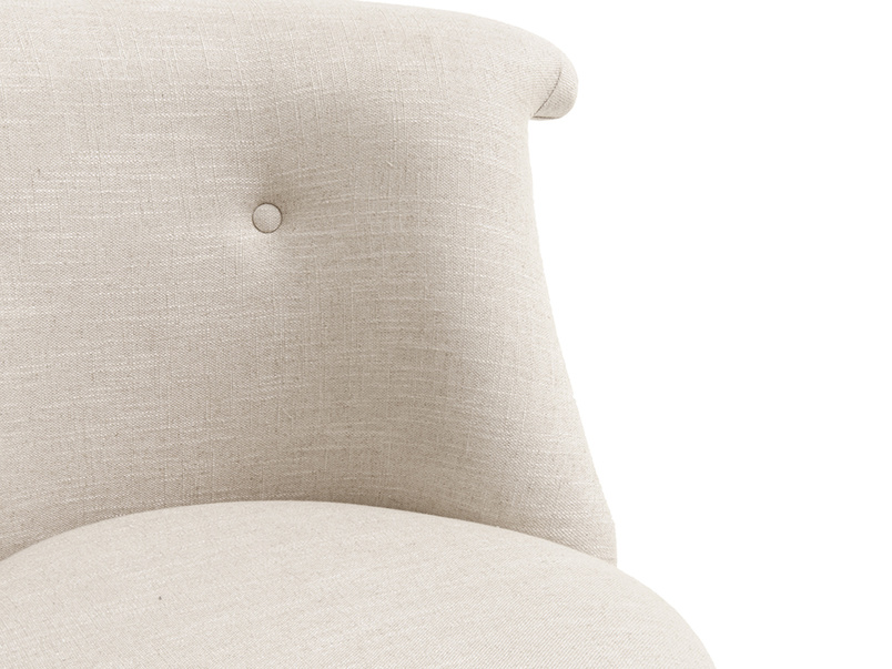 Bovary is a small and cute occasional bedroom armchair