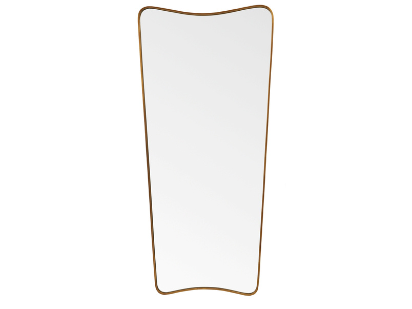 Top Brass full length antique style retro floor standing mirror