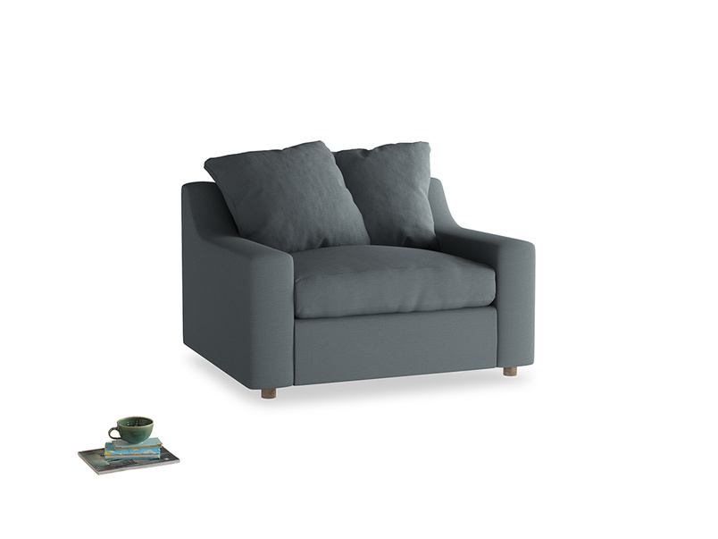Cloud love seat sofa bed in Meteor grey clever linen