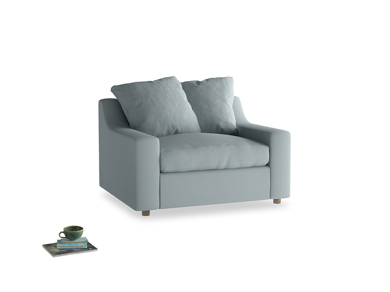 Cloud love seat sofa bed in Quail's egg clever linen